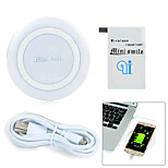 Minismile™ Top Quality Wireless Charger Charging Pad + Wireless Charging Receiver for Samsung Galaxy S5 i9600