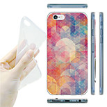 Gradient Pink Circles Pattern TPU Soft Back Case for iPhone 6