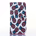 Pineapple Pattern PU Leather Material Card Full Body Case for iPhone 6 Plus