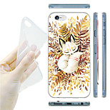 Sleeping Fox Pattern TPU Soft Back Case for iPhone 6