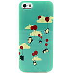 Fashion Design COCO FUN® Penguin Balloon Pattern Soft TPU IMD Back Case Cover for iPhone 5/5S