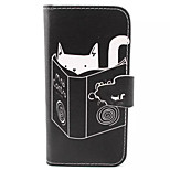 Reading  Pattern PU Leather Phone Case  For iPhone 5/5S