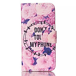Flowers Pattern PU Leather Phone Case For iPhone 5/5S