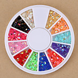 Mixed Colors Round Nail Art Beads AB Crystal Acrylic Rhinestones Glitter Nail Art Rhinestone for Nail Decorations Design