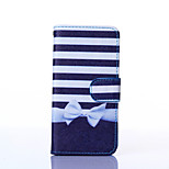 Bow Pattern PU Leather Material Card Full Body Case for iPhone 6