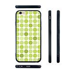 teste padrão de ponto verde sílica gel transparente borda traseira caso para iphone 6