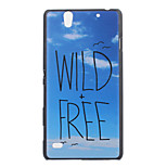 Sky Letters Pattern PC Material Phone Case for Sony C4