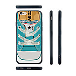 Blue Canvas Shoes Pattern Silicone Rubber Edge Hard Back Case for iPhone 6