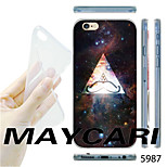 MAYCARI®Starry Sky Triangle Pattern TPU Soft Transparent Back Case for iPhone 6
