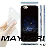 MAYCARI®Purple Dazzle Light Pattern TPU Soft Transparent Back Case for iPhone 6