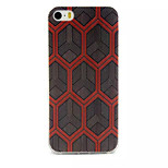 Crossed Hexagon Pattern TPU Material Phone Case For iPhone 5/5S