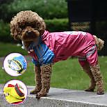 PETSOO Double-layer mesh four-legged Printing Waterproof dog raincoat
