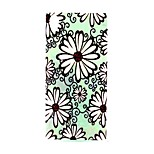 COCO FUN® Green Daisy Pattern Soft TPU IMD Back Case Cover for Sony M4