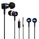 Huast 3.5mm In-ear Earphones Super Clear Bass Metal Headphone Noise isolating Earbud for  iphone Sony MP3 Cellphone