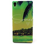 Coconut Tree Pattern TPU Material Soft Phone Case for Sony Xperia Z3