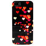 Fashion Design COCO FUN® Love Night Pattern Soft TPU IMD Back Case Cover for iPhone 5/5S