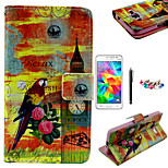KARZEA™Parrot Tower Pattern PU Leather Case with Screen Protector and Stylus and Dust Plug for Samsung Grand Prime G530