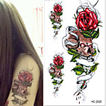 Human Skeleton Breath of Death Tattoo Stickers Temporary Tattoos(1 Pc)
