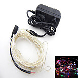 Dc12v 16.5FT 50 Leds Fairy String Lights Christmas Wedding Party Xmas Decoration and Power RGB