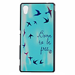 Be Free Pattern PC Hard Case for Sony Xperia M4 Aqua