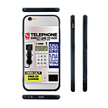 Pay Phone Pattern Transparent Silica Gel Edge Back Case for iPhone 6