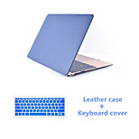 Solid Colors Luxury PU Leather Full Body Case with Keyboard Flim for Macbook Retina 15.4
