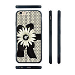 Daisy Pattern Transparent Silica Gel Edge Back Case for iPhone 6