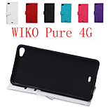 Flip Leather Magnetic Protective Case For WIKO Pure 4G(Assorted Colors)