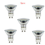 5pcs HRY® 3W GU10 36LEDS 260LM 3000K Warm White Color Light LED Spot Lights(220V)