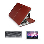 Business 3 in 1 Full Body Cases with Keyboard Flim and HD Screen Protector for Macbook Retina 15.4