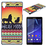 Lion Pattern Material TPU Soft Phone Case for Sony Xperia Z3
