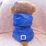 Holdhoney Red/Blue Conjoined With Hood Winter Coat For Pets Dogs (Assorted Sizes, Colors) LT15050162