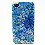 Green Disk Pattern TPU Material Phone Case for iPhone 4/4S