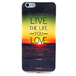 Sunset Pattern TPU Material Phone Case for iPhone 6