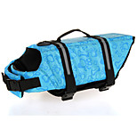 Oxford Cloth Cute Blue Life Jacket for Dogs XS