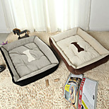 Multi Color Cotton Cute Box Shape Pet Bed for Dogs Cats 50*38*15 cm / 20*15*6 inch