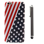 The Stars Stripes Pattern TPU Soft Back and A Stylus Touch Pen for iPhone 6