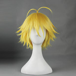 Cosplay Wigs The Seven Deadly Sins Cosplay Yellow Short Anime Cosplay Wigs 30 CM Heat Resistant Fiber Male / Female