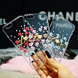 Luxury Diamond Flower Pearl Pattern PC Material Protection Skin Cover Case for iphone 4/4s