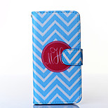 Blue and White Anchor Pattern PU Leather Full Body Case with Stand for Multiple HTC Desire 816/M9
