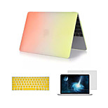 3 in 1 Rainbow Matte Full Body Case with Keyboard Cover and Screen Protector for Macbook Retina 12