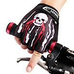 WOSAWE Cycling Bike Bicycle Anti-Slip Breathable SBR palm pad Pattern Half-Finger Gloves