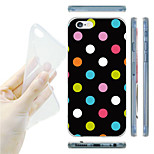 Colorful Dots Pattern TPU Soft Back Case for iPhone 6