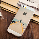 Alone  Fisherman Pattern TPU Soft Case for iPhone 5/5S