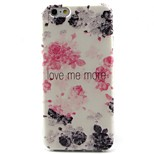 Flowers Pattern TPU Material Soft Phone Case for iPhone 6/6S