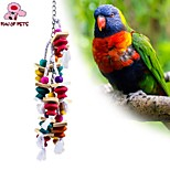 FUN OF PETS® Colorful Rope Wooden Gourd Chewing Lot with Beads for Birds