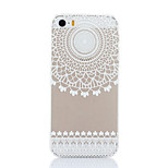 The Upper Circular Flower Pattern Hard Back Case for iPhone 5/5S