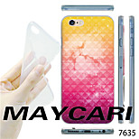 MAYCARI®Gradient Color Cloud Pattern TPU Soft Transparent Back Case for iPhone 6