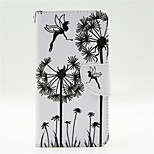 Dandelion Pattern PU Leahter Full Body Case with Card Slot for Microsoft Lumia 640