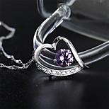 Japan and South Korea   S925  Silver   Heart Shape   Pendant Necklace